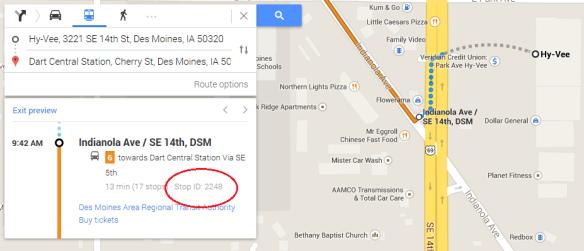 google stop ID